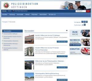 Polizeidirektion Göttingen Dienststellen