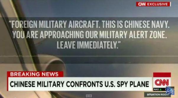 U.S. dringt in chinesische militaerzone ein