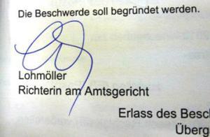 Unterschrift Lohnmöller